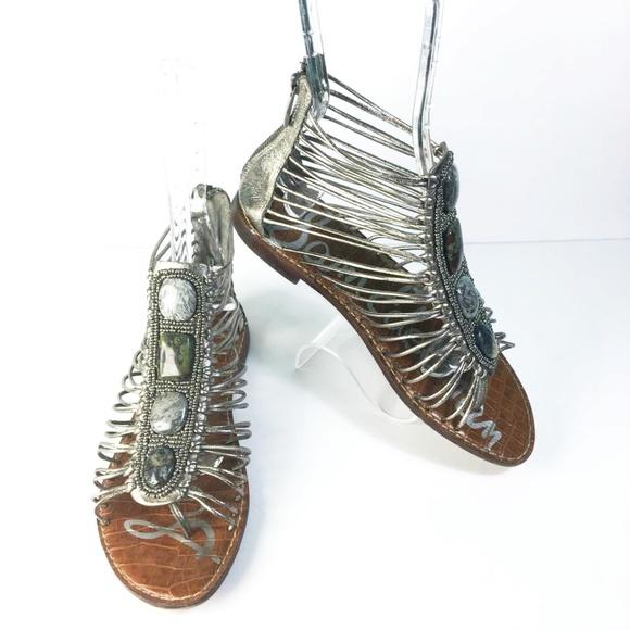 5bf3941d8017f8 Sam Edelman Shoes - SAM EDELMAN Hazel Thong Gladiator Sandal